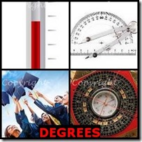 DEGREES- 4 Pics 1 Word Answers 3 Letters