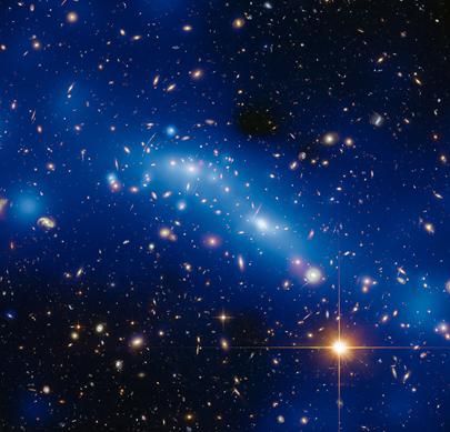 mapa da massa do aglomerado de galáxias MCS J0416.1-2403