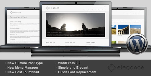 Elegance - Simple and Elegant WordPress Theme - Business Corporate