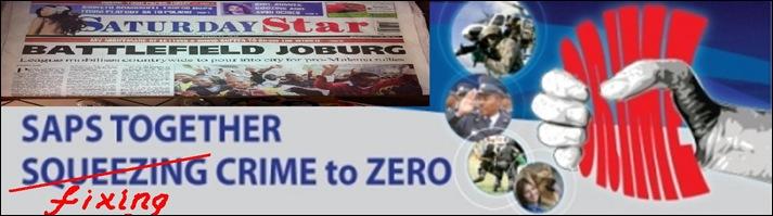 SAPS SQUEEZING CRIME TO ZERO POLICE LOGO CHANGE