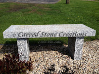 Classic Garden Bench L44in, Rockville Beige Granite