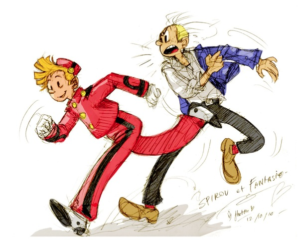 Spirou et fantasio fan art by jinguj d30nbcd
