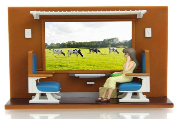 Vagão-Trem-Janela-Passageira-Recarregar-Smartphone
