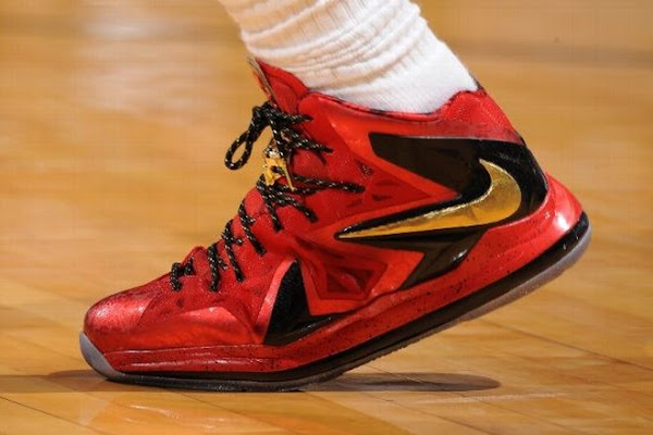 LEBRON X PS Elite NBA Finals PE Amazing Details