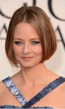 Jodie Foster's gunmetal eye makeup (it matched her dress!) was striking. Makeup artist Rachel Goodwin used Chanel Long-Lasting Eyeliner in Marine, then diffused it with a smudge brush. She paired it with Chanel Soft Touch Eyeshadow in Black Star, blending the color into the crease. Photo courtesy of Chanel.
