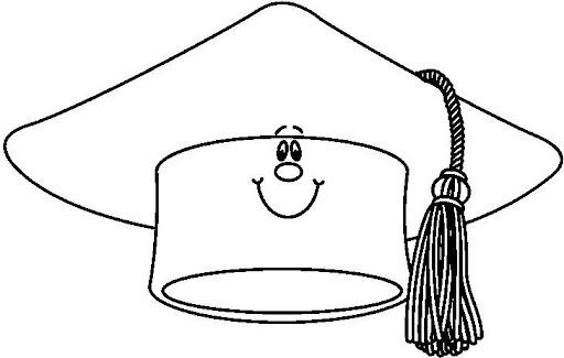 Dibujos para colorear toga y birrete - Imagui