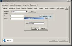 dbAcces : Configurações : ODBC (Generic) : Novo