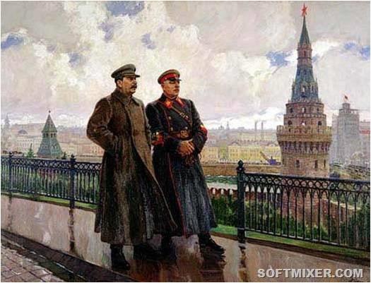 И.В._Сталин_и_К.Е._Ворошилов_в_Кремле._Художник_А.М.Герасимов