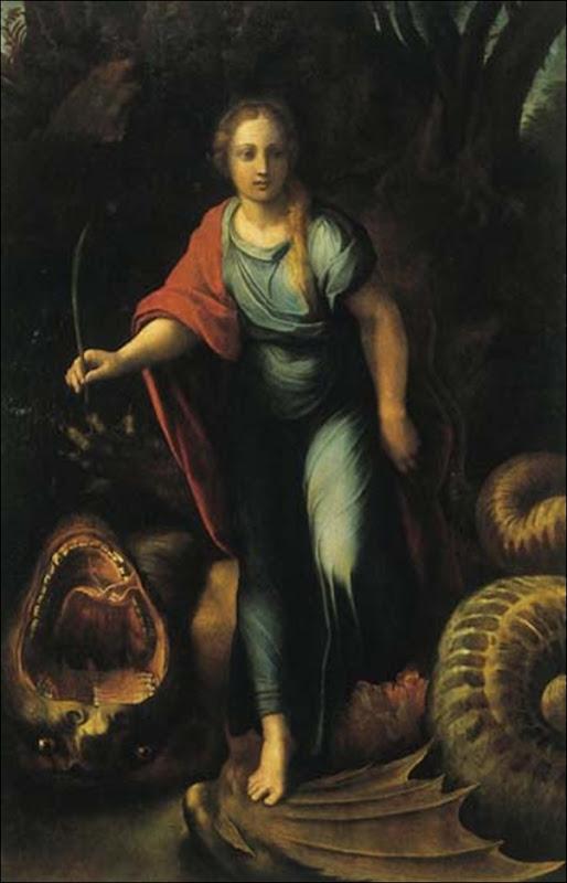 Raphael, St Marguerite et le dragon