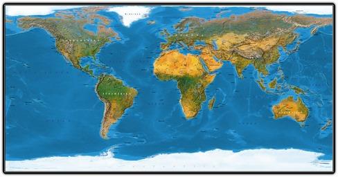 Natürliche Weltkarte