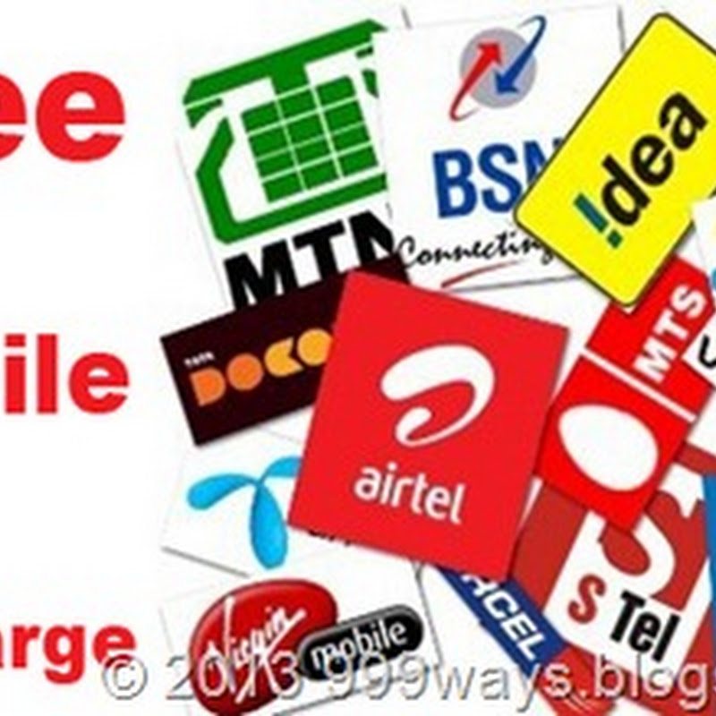 List of Top Free Mobile Recharge Websites: Earn upto 10 to 1000 Rupees