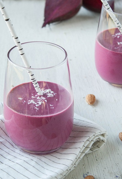 Beet Coconut Dream Smootie by Dishing Up Dirt