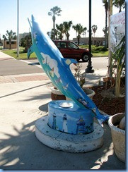 6681 Texas, Port Isabel - dolphin statue 'Race The Wind'