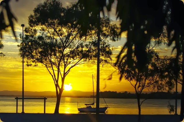 Sunset on our anniversery, from Bongaree, Bribie Island
