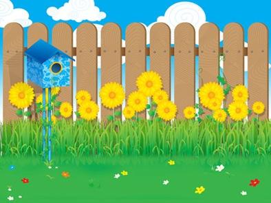 Girasol-jardin-vector
