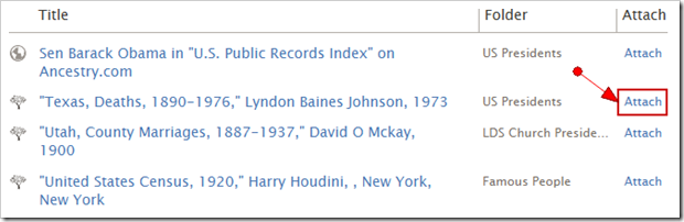 Attach a record to FamilySearch Family Tree