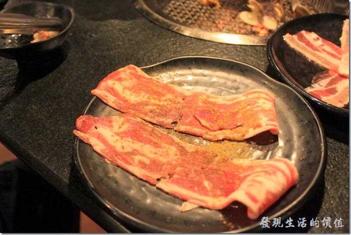 台南-逐鹿焊火燒肉。孜然羊五花