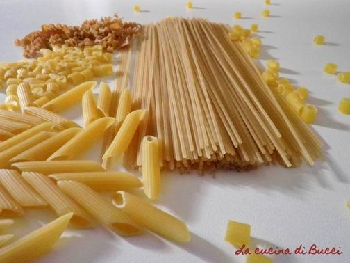 Vari tipi di pasta