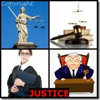 JUSTICE- 4 Pics 1 Word Answers 3 Letters