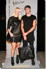 MIAMI BEACH, FL - DECEMBER 03:  Leonie Von Lieres (L) and Guido Werth attend the Porsche Design x Thierry Noir Art Basel Miami Beach Event at The Temple House on December 3, 2013 in Miami Beach, Florida.  (Photo by Neilson Barnard/Getty Images for Porsche Design)