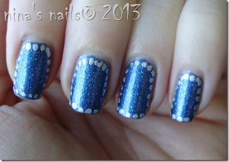 Polka dots framed nails-olivia #94 (2)