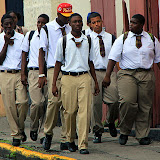 Students Headed To School - Basseterre, St. Kitts