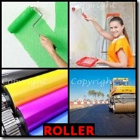 ROLLER- 4 Pics 1 Word Answers 3 Letters