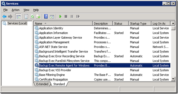 04 Stop Backup Exec Remote Agent for Windows