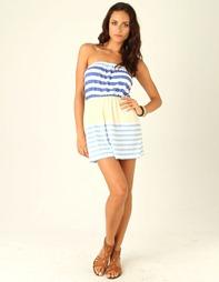 stripe-strapless-dress-blue