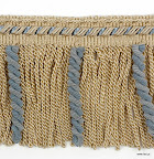 Szeroka taśma z frędzlami (grzywką) do ozdoby tekstylnych elementów wystroju wnętrz - zasłon, mebli, narzut.