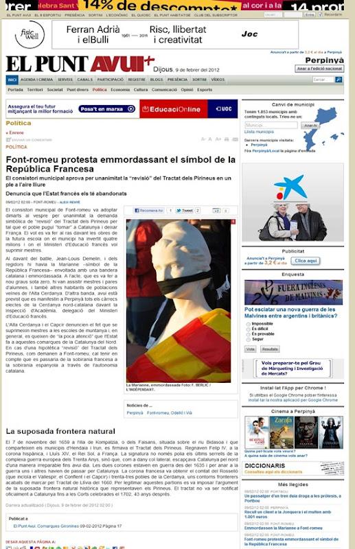 aire d'independentisme a Font Romeu