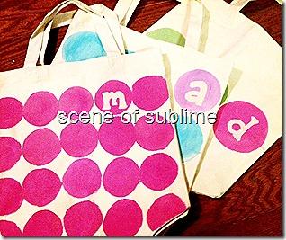 monogrammed polka dot bags 5