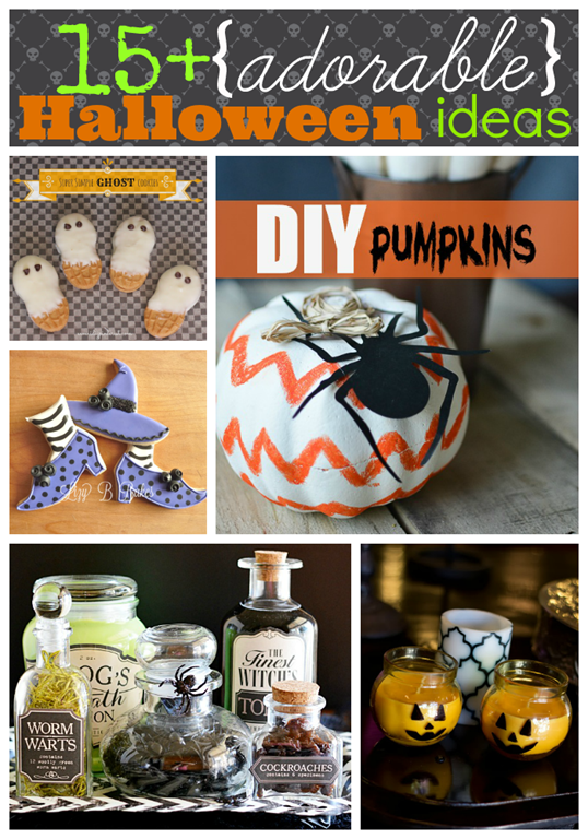 over 15 adorable #Halloween ideas #gingersnapcrafts #linkparty #features