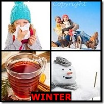 WINTER- 4 Pics 1 Word Answers 3 Letters