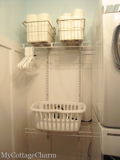 How to hang wire shelving in a laundry room