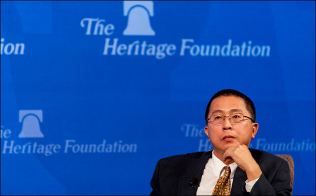 Wei-Hock 'Willie' Soon of the Harvard-Smithsonian Center for Astrophysics, whose articles have been tied to corporate funding, appears at a Heritage Foundation event. Photo: Pete Marovich