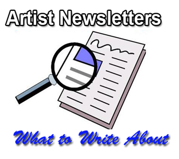 write about artist newsletters