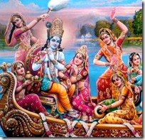 Krishna with the gopis