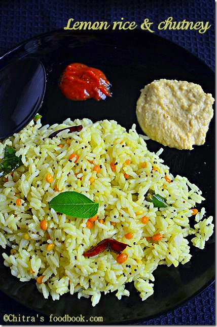 lemon rice - plate