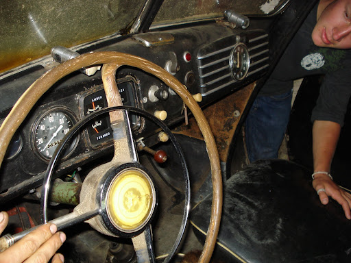 Interior of the old BMW