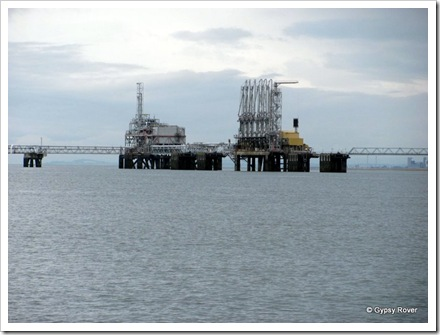 North Sea Oil Terminal where oil is pumped into waiting tankers.