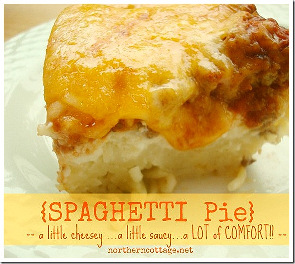 northern cottage spaghetti pie - comfort food