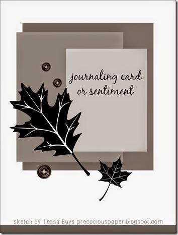 fall card sketch