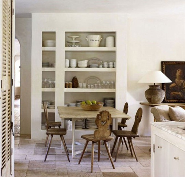 Gorgeous white French farmhouse kitchen by Pamela Pierce on Hello Lovely Studio