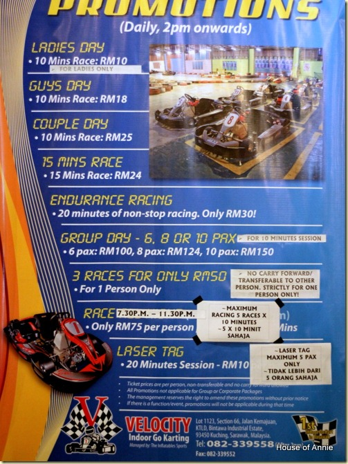 Velocity Indoor Go Karting promotions
