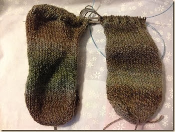 worsted socks almost done
