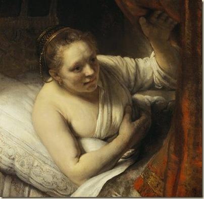 Rembrandt, Femme au lit