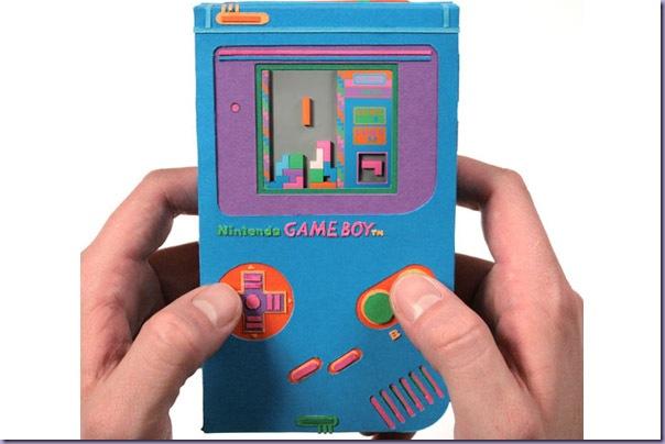 Arte-Recortes-Papel-Eletrônicos-Game-Boy