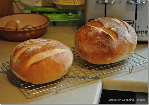 2 loaves of bread - The basic bread recipe
