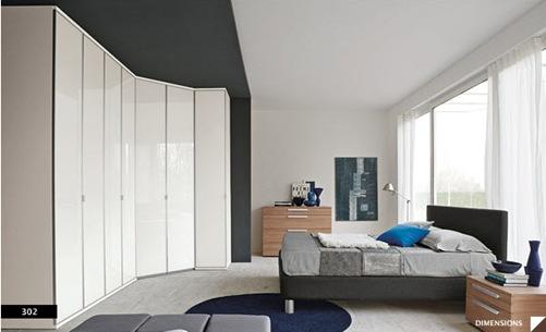 diseños de dormitorios modernos de pisos blancos